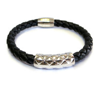 Vacay Quilted Bar Leather Bracelet