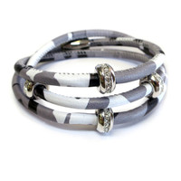 Good Karma Grey Camouflage Leather Triple Wrap