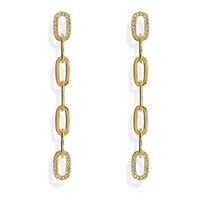 Love Link Chain Earrings Gold