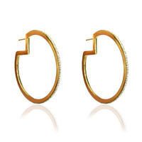 Glitzy Hoop Earrings Gold