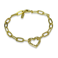 Amour Heart Chain Bracelet Gold