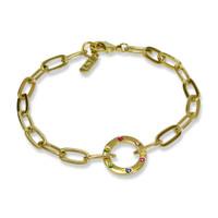 Amour Circle Rainbow Bracelet  Gold