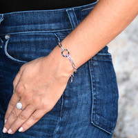 Amour Circle Rainbow Bracelet Silver