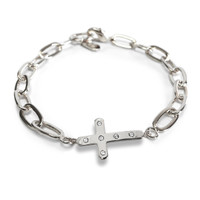 Amour Cross Bracelet Silver
