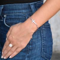 Amour Cross Bracelet Silver
