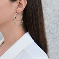 Double Hoops Silver