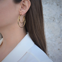 Double Hoops Gold