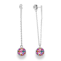 Sterling Silver Rainbow Drop Earrings