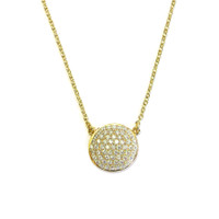 18K Gold over Sterling Silver Circle Necklace
