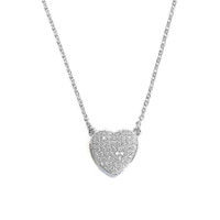 18K Gold over Sterling Silver Heart Necklace