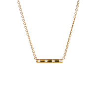 Diamond Bar Necklace Yellow Gold