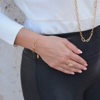TikTok Link Bracelet Gold