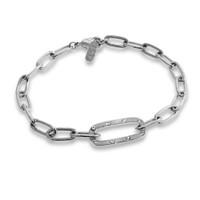 TikTok Link Bracelet Silver