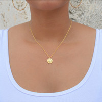 Heart Coin Medallion Necklace