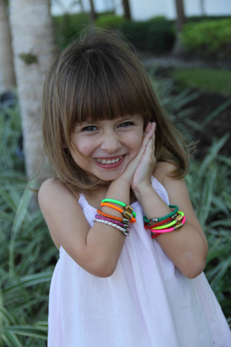 Neon Flash Leather Bracelets: Kids