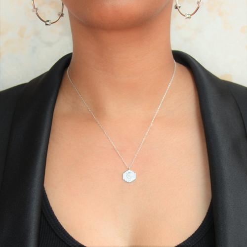 Pave Pillar Necklace
