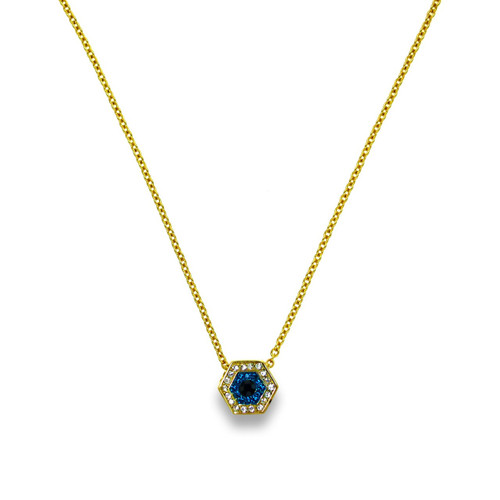 Touch Evil Eye Necklace Gold