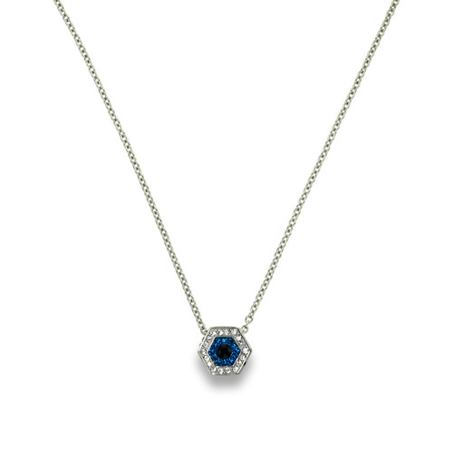 Touch Evil Eye Necklace Silver