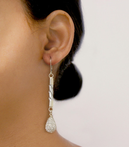 Glam Drop Earring Silver