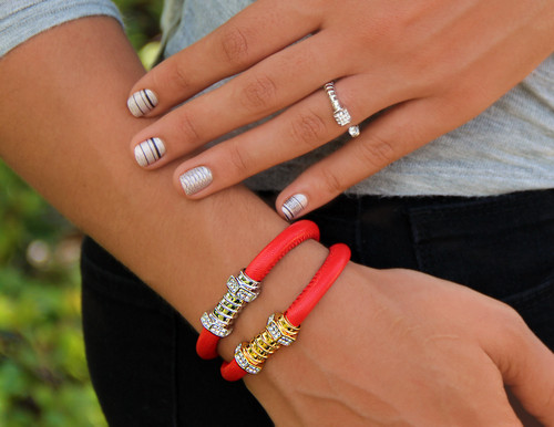 Jazz Screw Red Leather with Silver Clasp