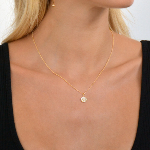 18K Gold over Sterling Silver Delicate Solar Necklace