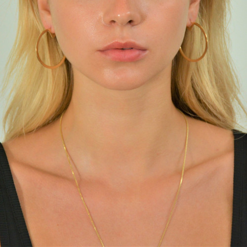 Large Pac Hoops Gold