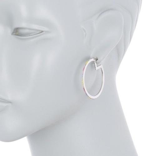 Rainbow Hoops Silver