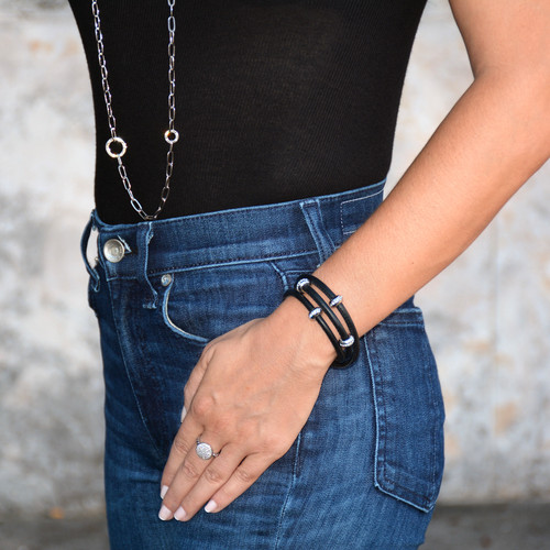 Good Karma Nappa Leather Triple Wrap