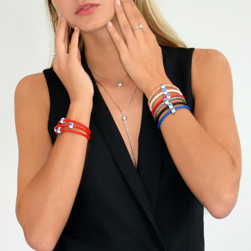 Pave Evil Eye Bracelet