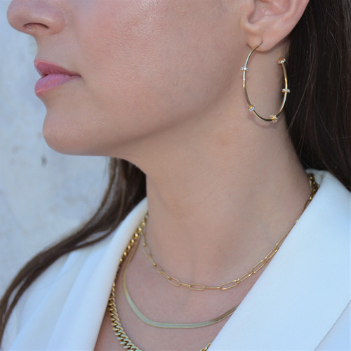 Stella Hoops Gold