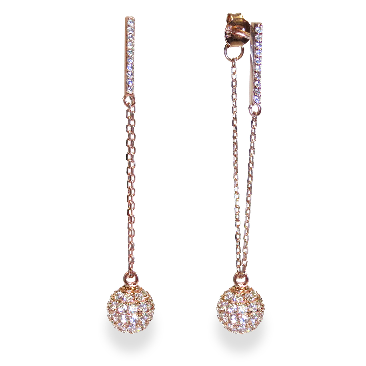 0a3c85967 Champagne Earrings Rose Gold - Liza Schwartz Jewelry