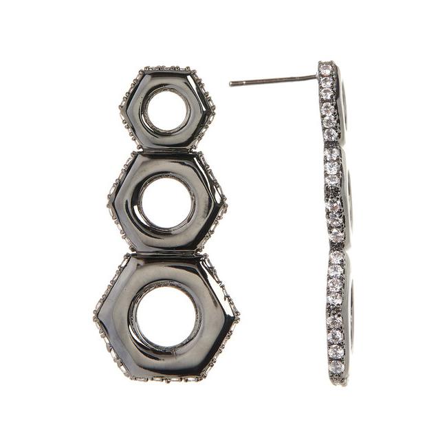 9466ee8e2 Gunmetal Nut Drop Earrings - Liza Schwartz Jewelry