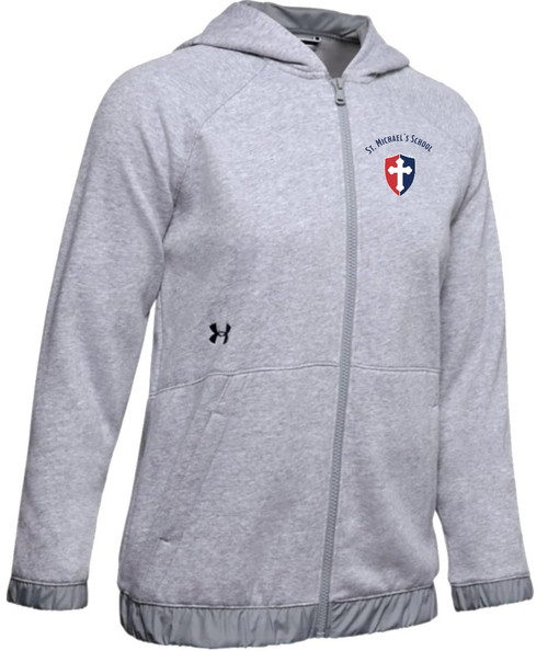 "Ladies Hustle Fleece Full Zip Hoody - ""SHIELD"" or ""KNIGHT"" {colors: gray, navy, black}"