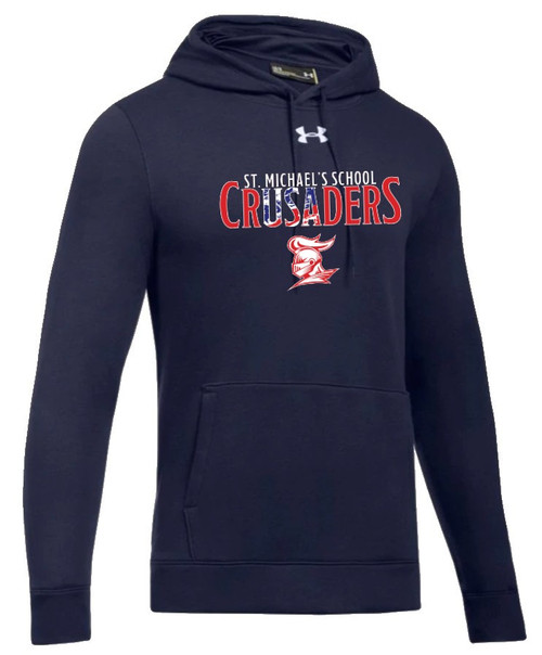 "Men's Hustle Fleece Hoody: ""SMS CRUSADERS"" {colors: gray, navy}"