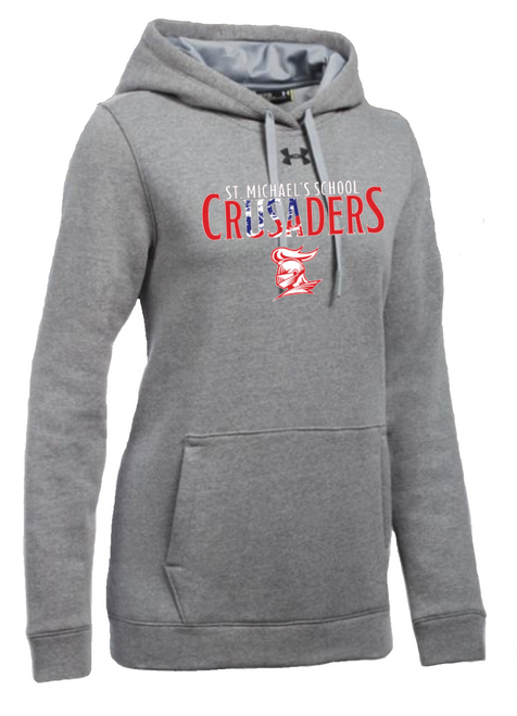 "Ladies Hustle Fleece Hoody - ""SMS CRUSADERS"" {colors: navy, gray}"