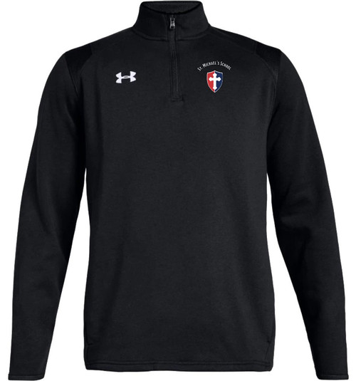 "Mens Hustle Fleece 1/4 Zip: ""SHIELD or ""KNIGHT"" {colors: black, gray, navy, white}"