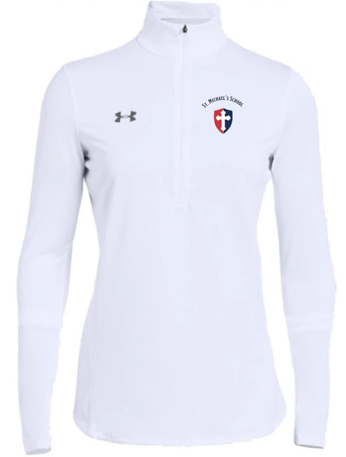 "Ladies Locker 1/2 Zip ""SHIELD"" or ""KNIGHT"" {colors: black, gray, navy, white}"