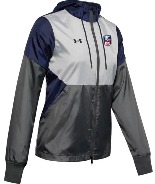 "Ladies Team Legacy Windbreaker - ""SHIELD"" or ""KNIGHT"" {colors: black, navy}"