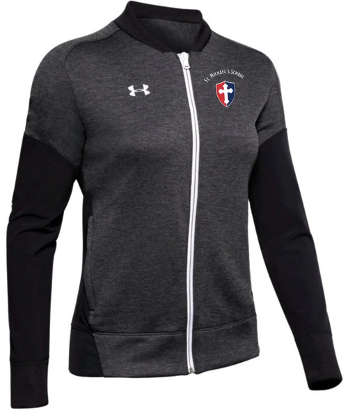 """Ladies Qualifier Hybrid Warmup Jacket - """"SHIELD"""" or """"KNIGHT"""" {colors: black, gray, navy}"""
