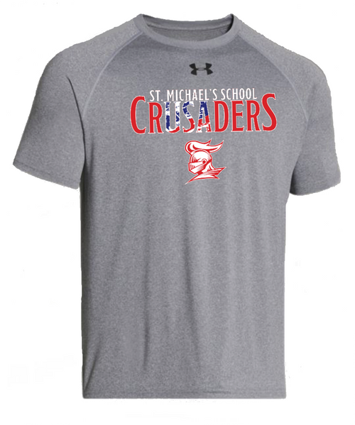 """Men's Locker Tee 2.0 - """"SMS CRUSADERS"""" {colors: gray, navy}"""