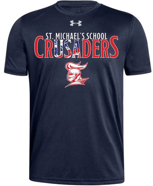 "Youth Locker Tee 2.0 - "" SMS CRUSADERS"" {colors: gray, navy}"