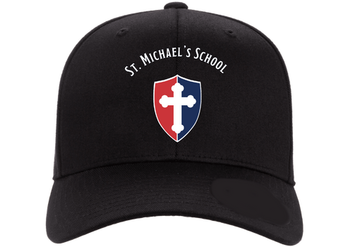 """Flex-Fit Adult Baseball Cap - """"SHIELD"""" or """"KNIGHT"""" {colors: black, gray, navy, white}"""