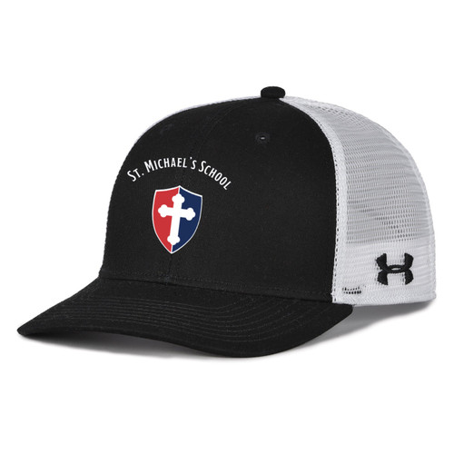 "Adult Trucker Mesh Cap - ""SHIELD"" or ""KNIGHT"" {colors: black, gray, navy, white}"