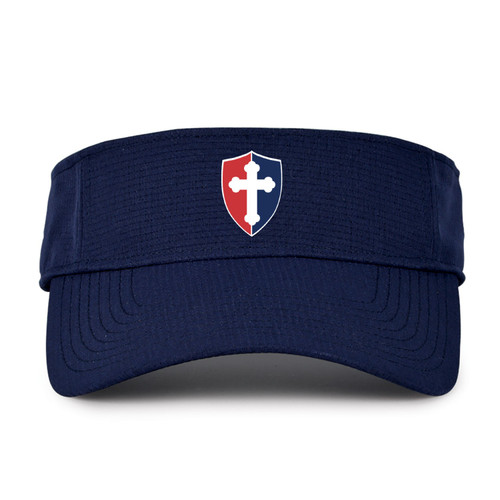 "Adult Airvent Performance Visor - ""SHIELD"" or ""KNIGHT"" (colors: navy, white)"