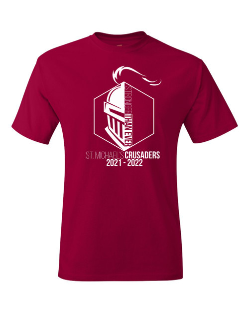 """Youth Crusader Tee - """"STRONGER THAN  EVER"""" [colors: carbon, navy, red]"""