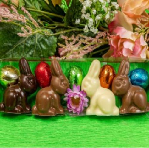 Bunny & Eggs clear Box