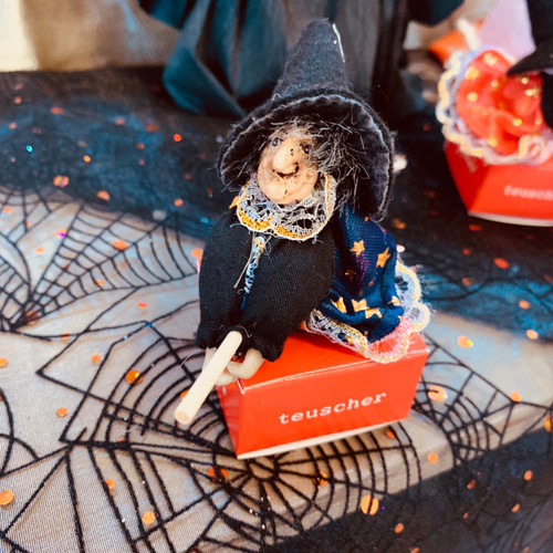Witch ceramic box - 1 piece