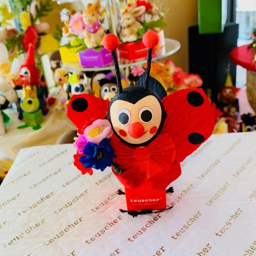 Ladybug  with flower 2 pc box