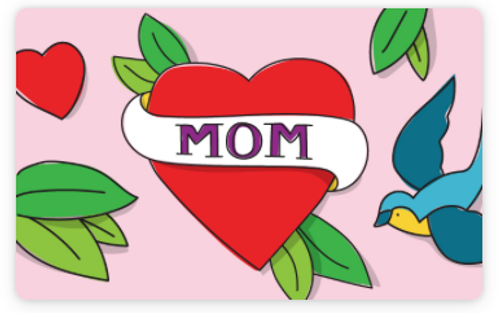 EMAIL e GIFT card  heart for MOM
