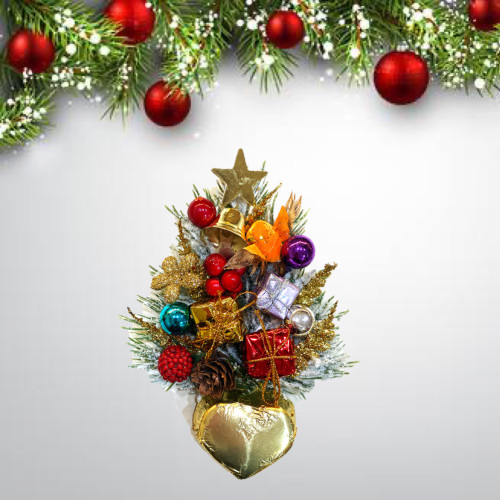 Xmas tree with gianduja chocolate heart
